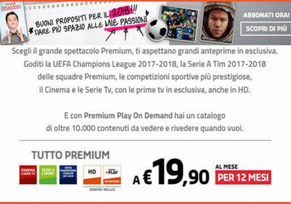 Mediaset Premium promozione