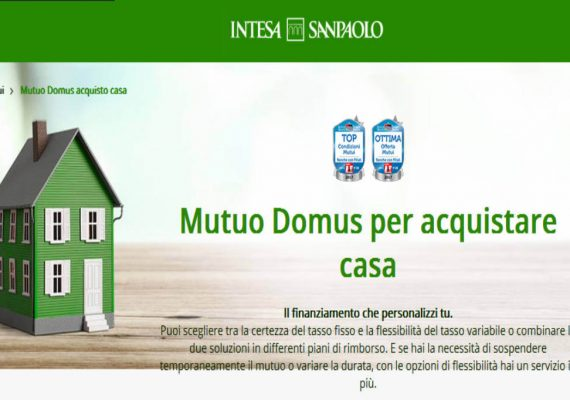 intesa sanpaolo mutuo