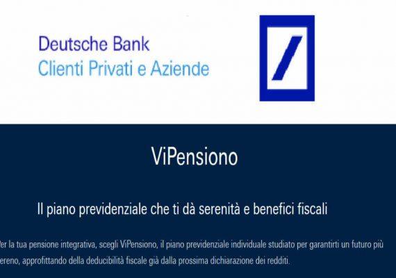 deutesche bank pensione