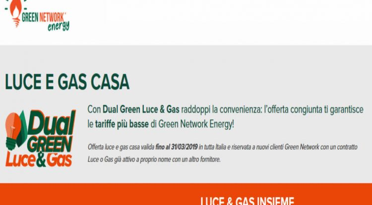 greennetwork luce gas