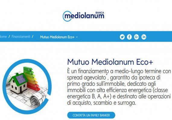 mutuo mediolanum eco