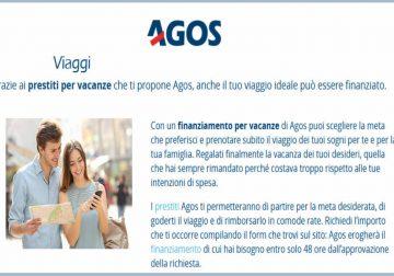 Non rinunciare alle vacanze, richiedi il prestito Agos