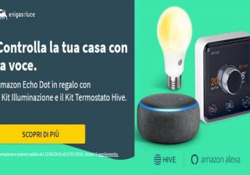 Amazon Echo Dot in omaggio con il kit illuminazione Eni