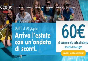 Abbassa il prezzo dell'estate con Accendi e risparmia fino a 60€