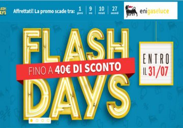 Flash Days Eni: risparmia fino a 40€ in bolletta