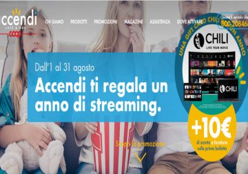 Accendi luce e gas ti regala il cinema di Chili