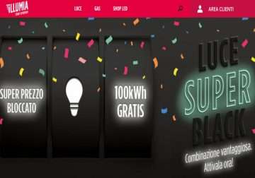 Black Friday: in omaggio 100Kwh con Illumia