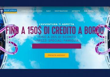 Promo Royal Caribbean: sconto del 35% e fino a 150$ di credito a bordo
