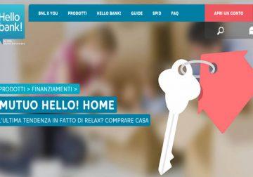 Hello!Home: richiedi il mutuo direttamente online