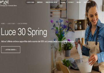 Luce 30 Spring: 30% di sconto sulla componente energetica