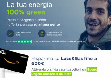 Gas e Luce di Sorgenia ti regalano Amazon