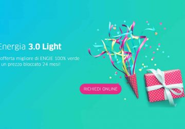 Energia 3.0 Light: energia e gas a prezzo conveniente bloccato per 24 mesi