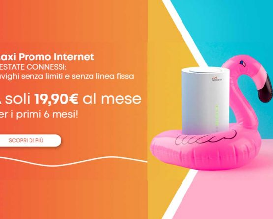 Maxi Promo Internet: naviga a soli 19,90 € al mese per i primi 6 mesi